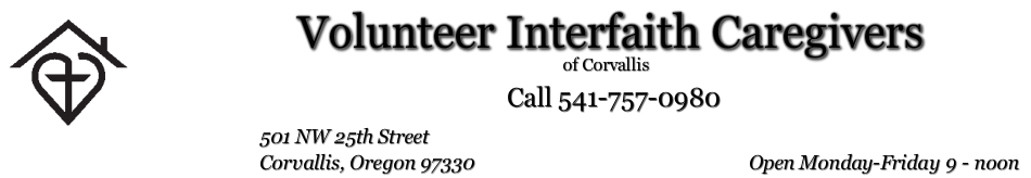 Volunteer Interfaith Caregivers - Corvallis
